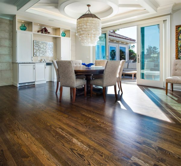 dining area with wood floor | GC Home Inspection | room redesign Pearland
