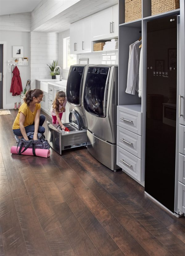 mother and child doing laundry | GC Home Inspection | Household routine Pearland
