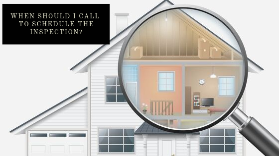 When Should I Call To Schedule The Inspection? | GC Home Inspection | Home Inspection Pearland TX